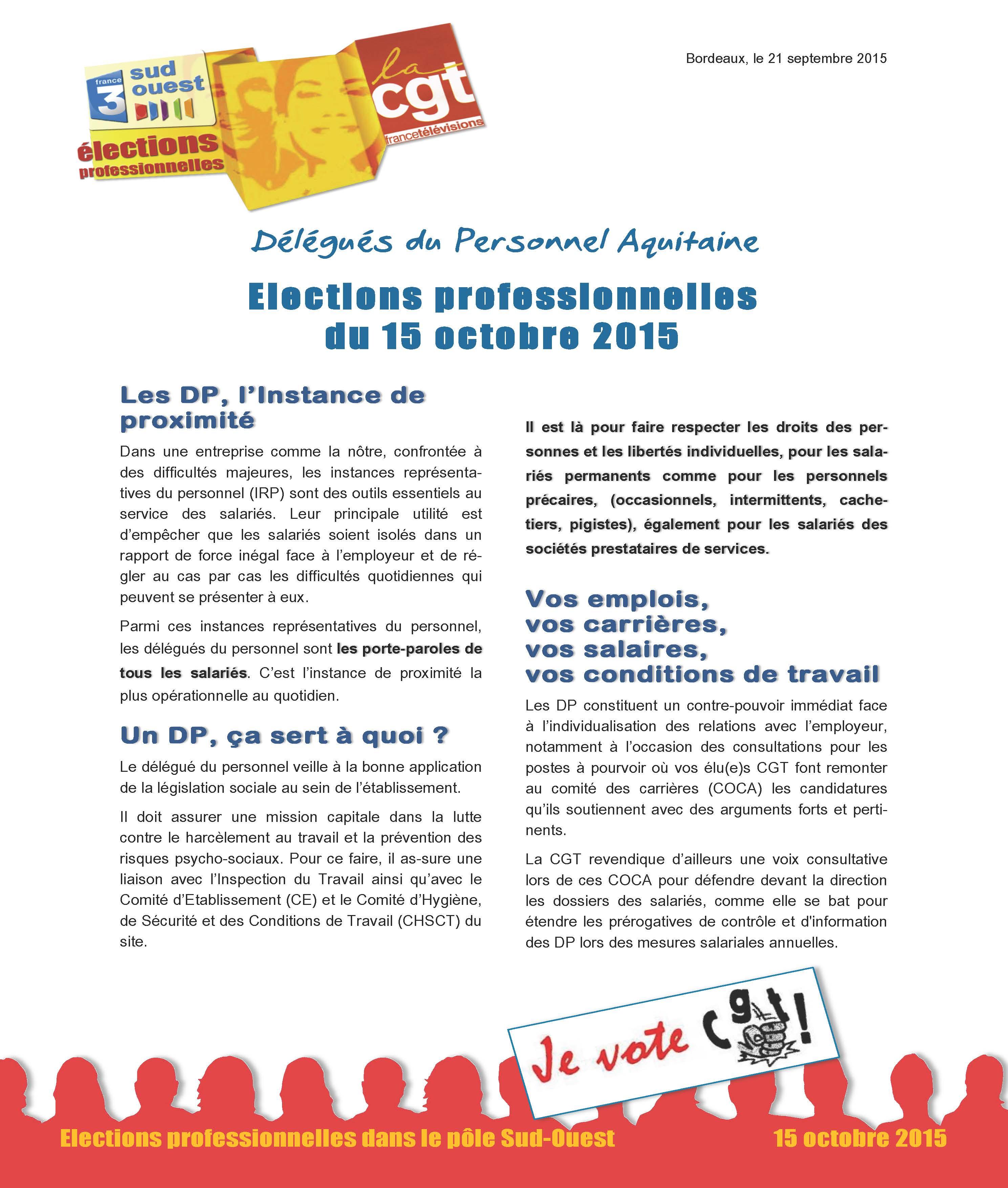 inspection du travail elections professionnelles
